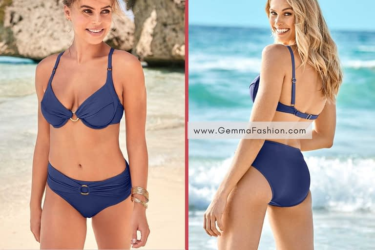 NAVY BLUE SALLY UNDERWIRE RING TOP