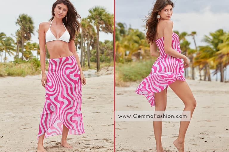 CONVERTIBLE COVER-UP DRESS
