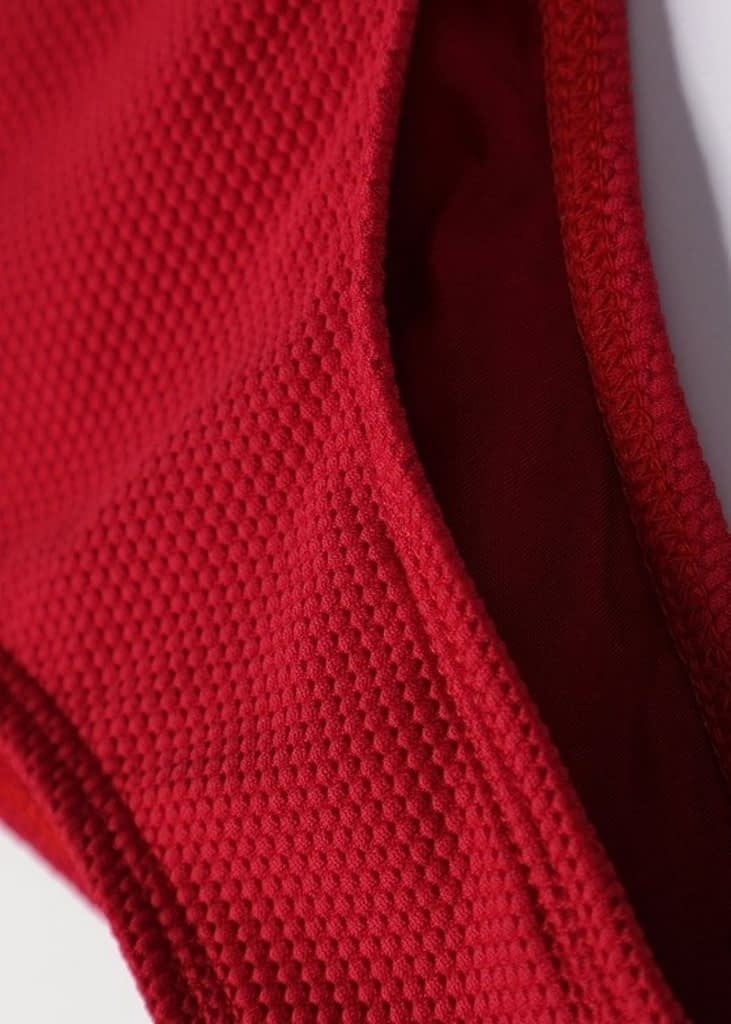 TIDAL STYLE RED LOW RISE STRING BIKINI BOTTOMS