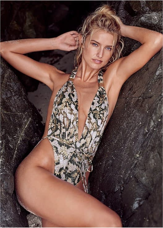 WRAP ONE-PIECE IN SNAKEBITE