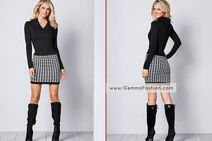 PRINTED SWEATER DRESS