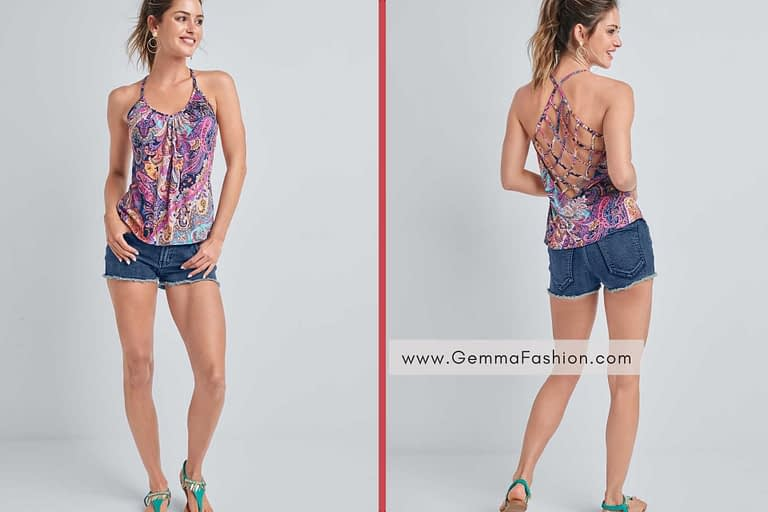 OPEN BACK STRAPPY TOP