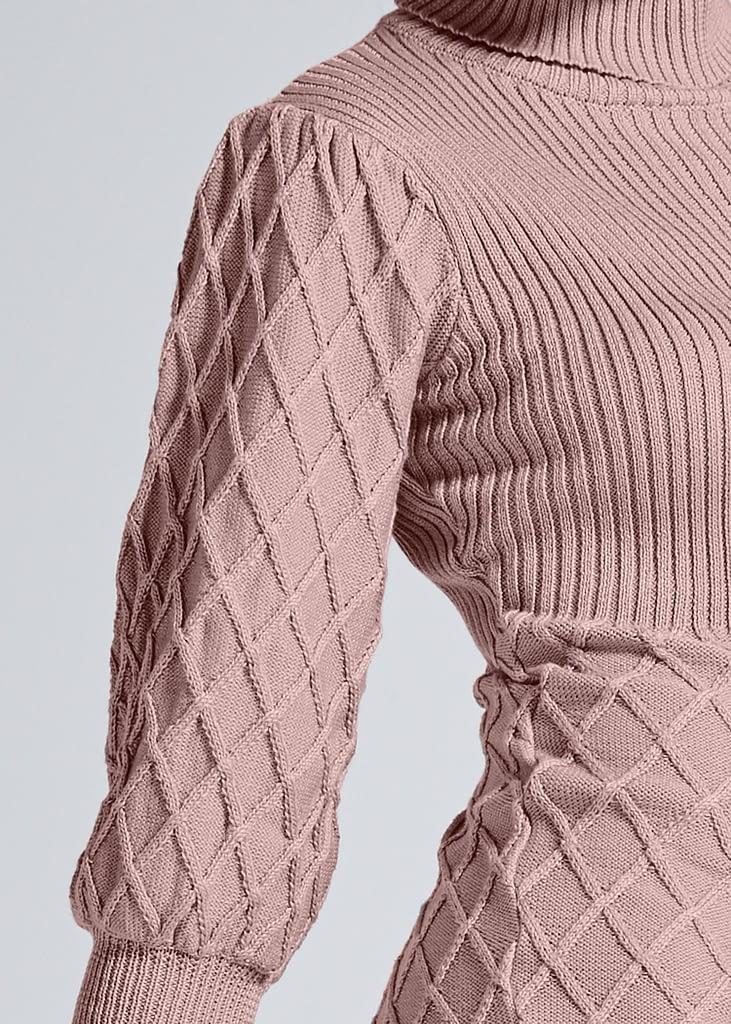 PUFF DETAIL SWEATER DRESS