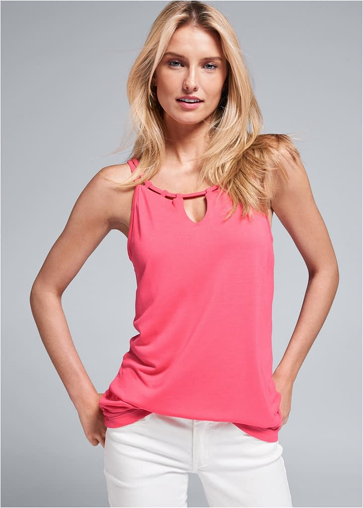 CASUAL TANK IN CORAL
